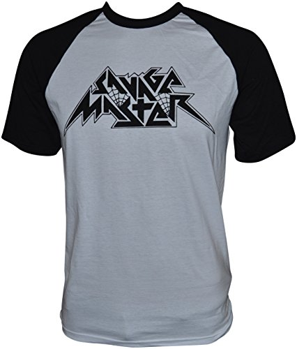 Savage Master Logo Baseball-T-Shirt Weiß