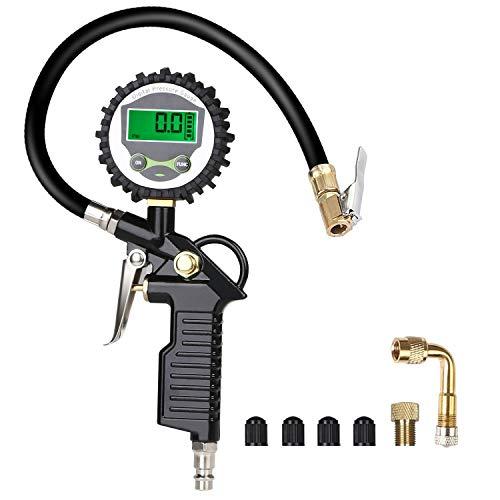 URAQT Manómetro Digital, Manómetro de Neumáticos, Medidor de Presión de Neumáticos con Manguera...