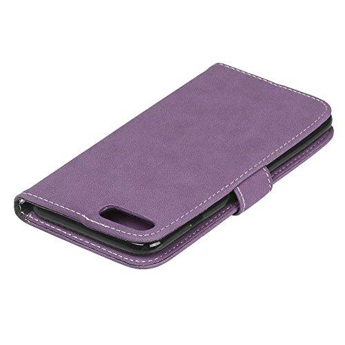 iPhone 7 Plus (5,5 Zoll) Hülle, Cozy hut TPU Silikon Hybrid Handy Hülle Matte Series Case Durchsichtig Stoßfest Tasche Schutz Scratch-Resistant de protection Case Tasche Etui Shell für iPhone 7 Plus ( Lila scheuert