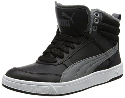 Puma Unisex-Kinder Rebound Street v2 fur Jr Sneaker, Schwarz (Black-Smoked Pearl), 37.5 EU (Street-sport-schuh)