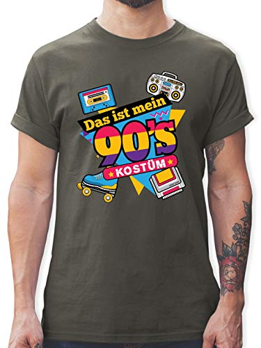 Karneval & Fasching - Das ist Mein 90er Jahre Kostüm - XL - Dunkelgrau - L190 - Herren T-Shirt und Männer - Das Ist Mein Kostüm T