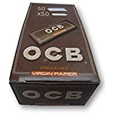 OCB Virgin Unbleached 1 1/4 Rolling Papers Pack Of 50 Booklets From SUDESH ENTERPRISES