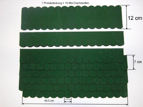 "Mini Dachschindeln Biberschwanz (33 mm) - Set - Grün "" 23.409 "" Dachschindel"
