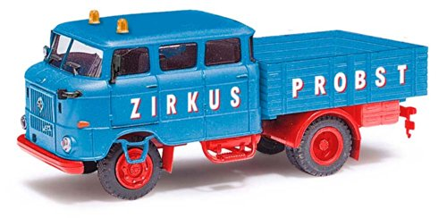 Busch Voitures - BUV95110 - Modélisme - Camion Remorquebleu W 50L BTP - Zirkus Probst