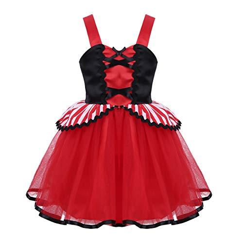 iixpin Mädchen Prinzessin Kostüm Baby Prinzessin Kleider Tütü Rock Märchen Cosplay Halloween Karneval Fasching Kostüm Rot 116