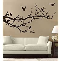 Tree Branches Birds Wall Art Free Squeegee! Decal Sticker Floral Mural Bedroom