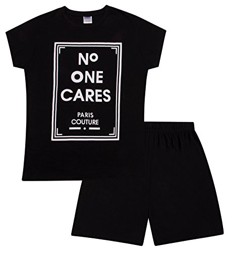 Teenage Girl's Short Pyjamas No One Cares Paris Couture Pjs