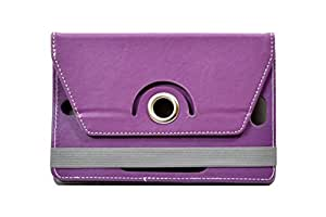 """Hello Zone Exclusive 360° Rotating 8"""" Inch Flip Case Cover Book Cover for GoTab GTI8WTX -Purple"""