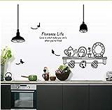 Namefeng Florenz Leben Abnehmbare Wandaufkleber Küche Restaurant Tee Tasse Schrank Dekorative Aufkleber Wandmalereien