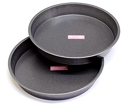 "7"" Victoria Sandwich Pan, Cake Tin Twinpack Fixed Base with GlideX Non-Stick ® TM"