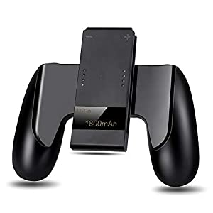Expresstech @ Ladegerät Griff Joy-Con ladegerät Grip Lade grip Griff Unterstützung Halter Stützhalter 1800mAh für NINTENDO SWTICH Nintendo Switch Joy Con Gamepad Controller