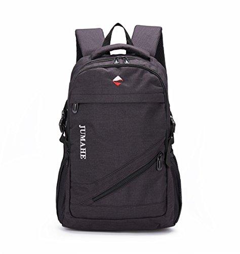 Maod Leinwand Freizeit Schulrucksack Jungen Rucksack Schule Daypack Laptoprucksäcke 15 Zoll Schultasche Laptop Backpack (Schwarz)