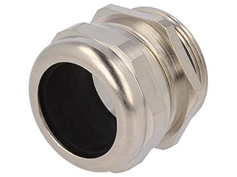 HUMMEL-1106320150 Cable gland M32 IP68 Mat brass Body plating nickel HUMMEL