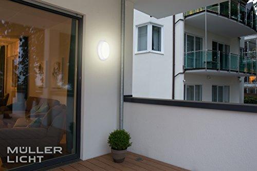 MÜLLER-LICHT LED Feuchtraumleuchte Bulkhead, IP54, Rund, Plastik, 8 W, Weiß, 17.6 x 17.6 x 5.6 cm - 5