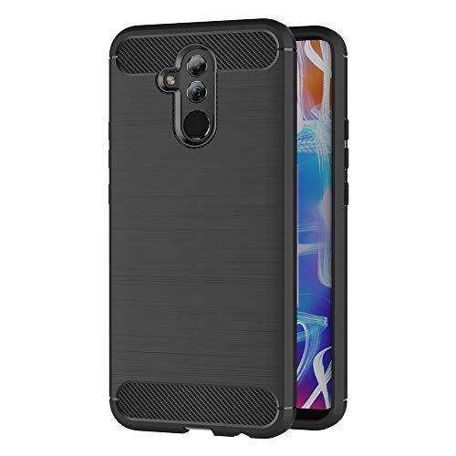AICEK Huawei Mate 20 Lite Hülle, Schwarz Silikon Handyhülle für Huawei Mate 20 Lite Schutzhülle Karbon Optik Soft Case (6,3 Zoll)