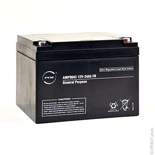 NX - Batteria piombo AGM S 12V-24Ah FR 12V 24Ah T12 - Unità