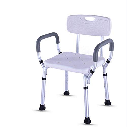 XYLUCKY Premium Badewanne Duschstuhl, Portable Badesitz, Verstellbare Dusche Bank, Weiße Badewanne Lift Chair Mit Armen (Deluxe-aluminium-bad-bank)