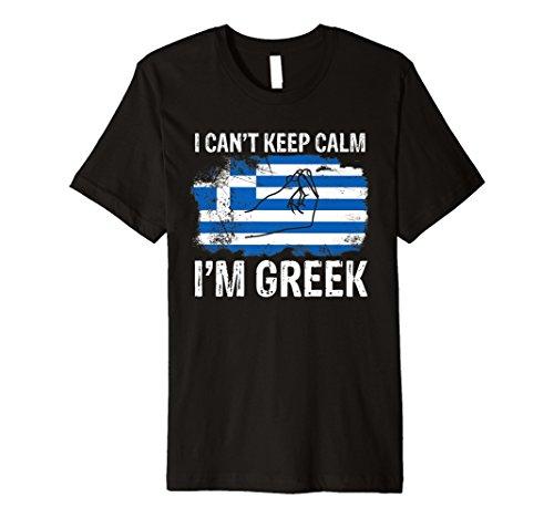 Griechisch Can 't Keep Calm Funny Griechenland Flagge T-Shirt