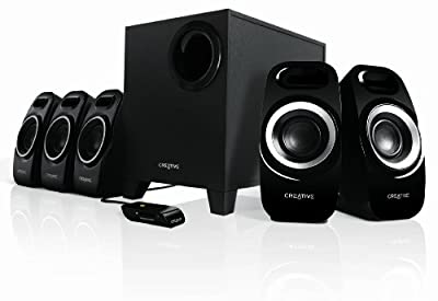 Creative Inspire Surround Speaker System with Wired Remote Control for Music, Movies and Games - Black from Creative