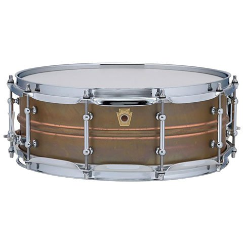 Ludwig Copper Phonic Smooth Snare Drum 14 x 5 in. Raw Smooth Finish with Tube Lugs