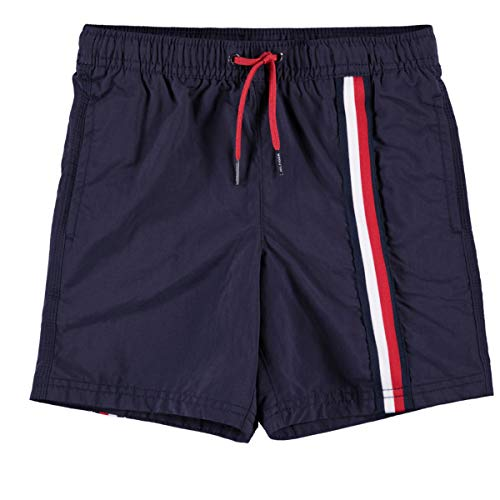 Tommy Hilfiger Boys Badeshorts medium Drawstring UB0UB00180, Fb. Navy Blazer (Gr. 12-14)