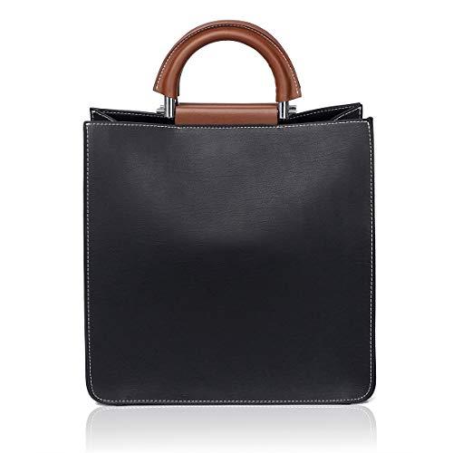 APHISON P028-1 Damen Handtaschen, Handtaschen, Schultertasche, Schwarz (schwarz), Medium -
