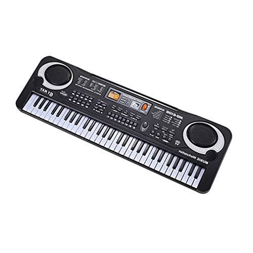 Vhnvhn tastiera elettronica a 61 tasti con strumento musicale per bambini con microfono