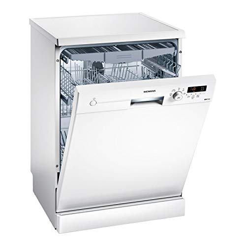 Siemens iQ100 SN215W01FE lavavajilla Independiente 14 cubiertos A++ - Lavavajillas (Independiente, Tamaño completo (60 cm), Blanco, Blanco, Botones, Giratorio, 1,75 m)