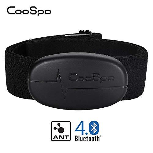 CooSpo Herzfrequenzmesser Brustgurt Bluetooth 4.0 ANT+ Heart Rate Monitor Sensor IP67 Wasserdicht Kompatibel mit Garmin Wahoo Strava Zwift Polar RUNTASTIC