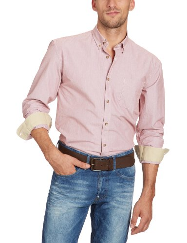 SELECTED HOMME Herren Hemd mit Manschetten 16028038 Kent Shirt LS Rot (Red)