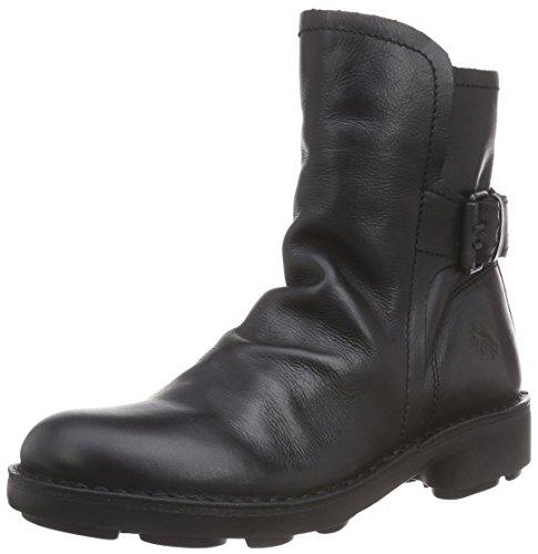 Fly London NING Damen Biker Boots Schwarz (Black 012)