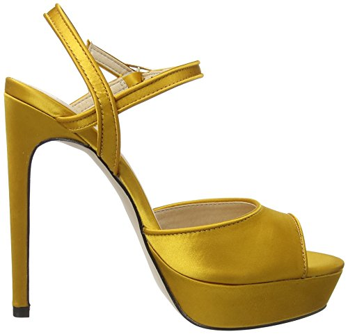 Signore Sconosciute Hoop W Plateau Pumps Yellow (senape Satin)