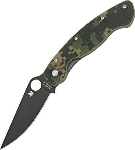 Military Model, Digital Camo G-10 Handle, Black Blade, Plain