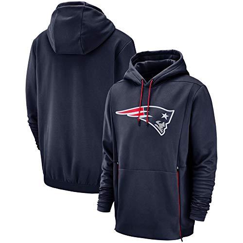 Luxuon PulloverPatriots Sweatshirt Pullover, New England Patriots Jersey beiläufige Hoodie mit Reißverschlusstaschen, B,S