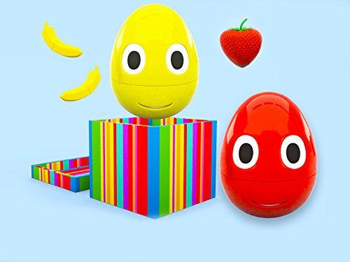 Farben lernen mit fröhlichen Eiern - wundervolle Früchte