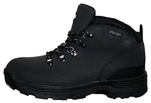 Donna TREK Stivali in pelle impermeabile leggero, da Passeggio/escursionismo/trekking. Black