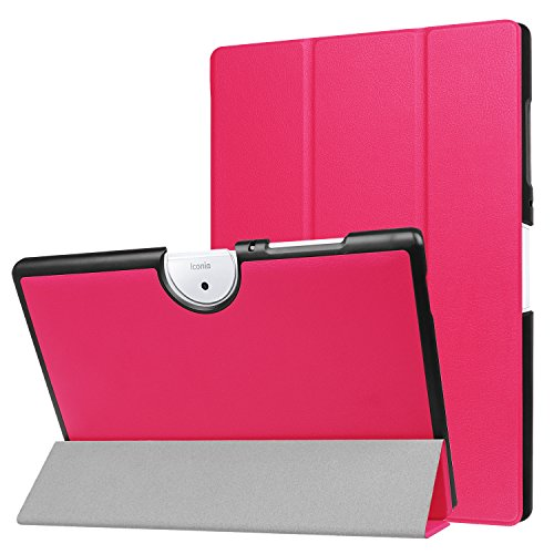 custodia tablet acer iconia one 10 Bloomy Shop Acer Iconia One 10 B3-A40 Custodia Smart Shell Cover Slim in Pelle PU Ultra Sottile per Acer Iconia One 10 B3-A40 Tablet da 10.1 Pollici (Rose)