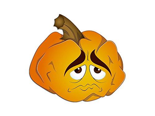 oo Wandaufkleber Halloween Kürbis Traurig Gesicht (62x57cm) (Schaurige Gesichter Für Kürbisse Halloween)