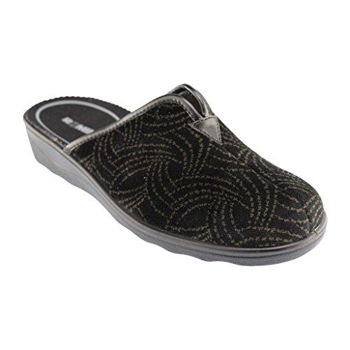 67086 62 nero Romika Pantofole 144 nero donna Nero grigio 61qw4