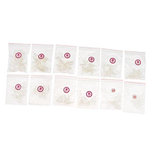 MagiDeal 504 Pièces Faux Ongles en ABS Plastique pour Salon de Vernis à Ongles et Nail Art DIY - Clair