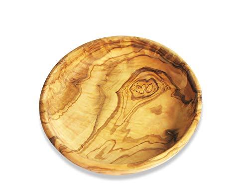 Bol Rond LAMAMMA en Bois d'olivier. Diamètre Environ 9-10 cm. avec très Belle veinure - encastré avec de l'huile végétale Pure. Chaque Bol est Une pièce Unique.