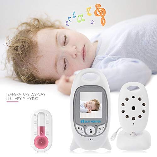 "Flybiz Wireless Baby Video Monitor with Digital Camera, 2.0"" LCD Display Screen Baby Lullaby Night Vision Temperature Monitoring 2 Way Talk, Babyphone,Nanny,Pets Surveillance for Home Security System  Flybiz"