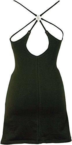 Guru-Shop Goa Psytrance Top, Pixi Top, Boho Top, Träger Top, Damen, Viskose, Size:38, Tops, T-Shirts, Shirts Alternative Bekleidung Olive