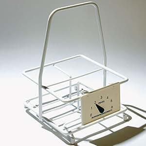 four bottle milk carrier kitchen home. Black Bedroom Furniture Sets. Home Design Ideas