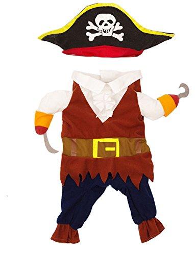 Imagen de disfraz de capitán pirata para gato, perro o mascotas alternativa