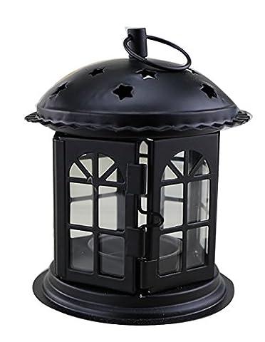 Petit chandelier de cinq étoiles Castle Iron Exquisite Workmanship Candle Holder Garden Party Table de mariage Dîner romantique Décoration extérieure intérieure ( Color : White )