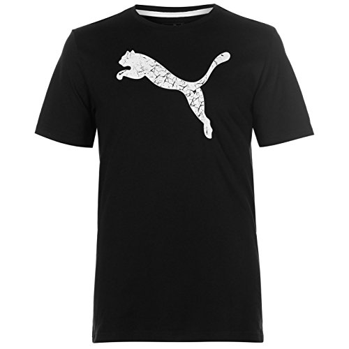 Puma - Camiseta - Redondo - Manga Corta - Hombre Negro