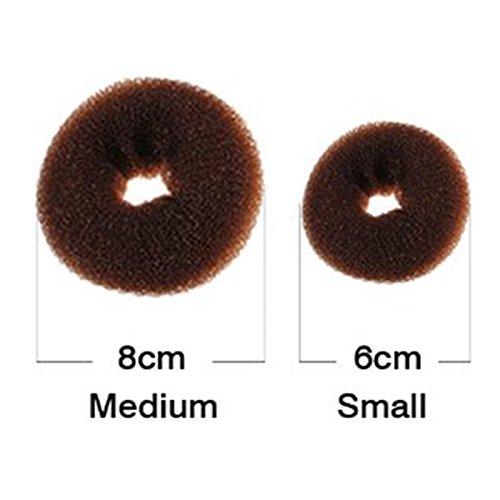 CareforYou Elastico spugna ciambella per chignon confezione da 2 pezzitaglie per bambini S e M