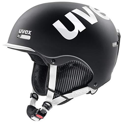 UVEX HLMT 50 2018/19 Freeride Snowboardhelm Skihelm Ski Snowboard Helm S566229(BLACK-WHITE MAT,M (55 - 59cm))