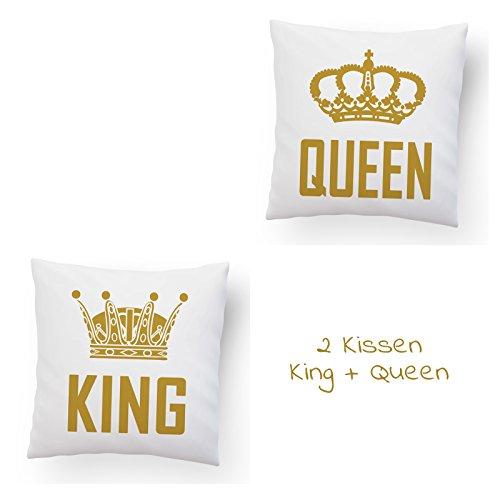 Design82 berlin cuscino doppio king & queen + nome o data